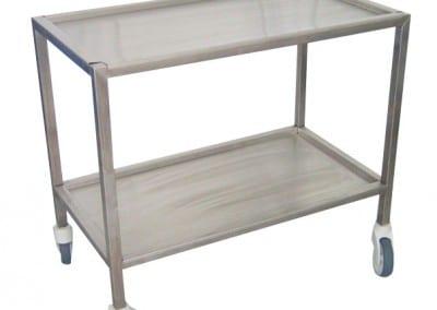Serving medicaments instruments table trolley
